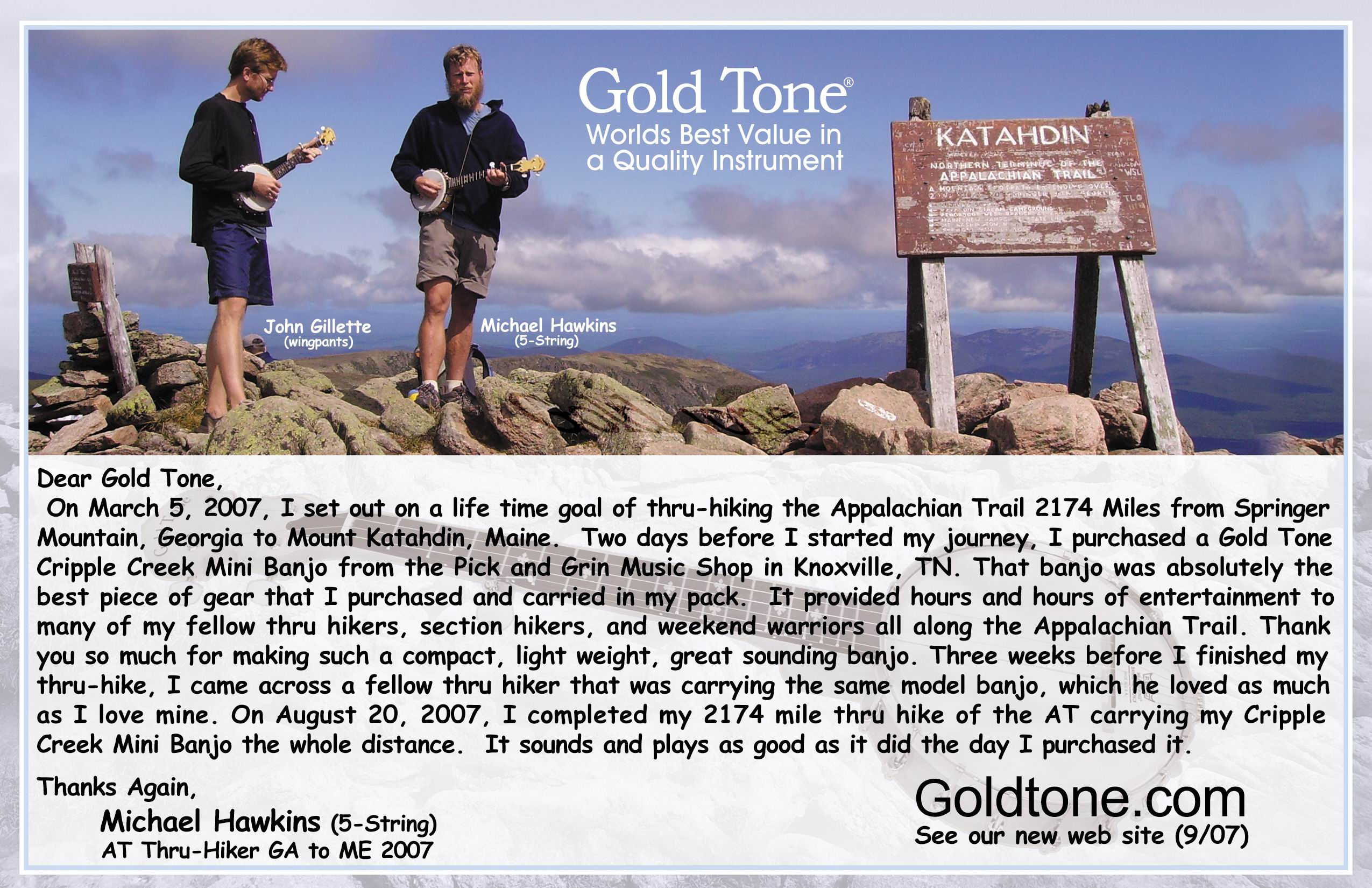 Ad for Gold Tone