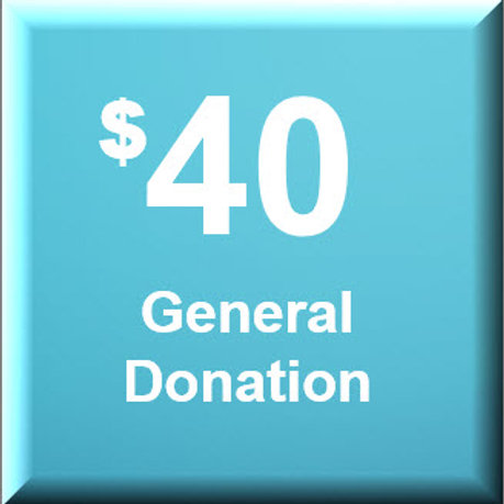General Donation $40