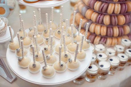 Luxury wedding candy bar table set. Maca
