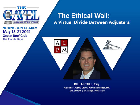 The Ethical Wall: A Virtual Divide Between Adjusters
