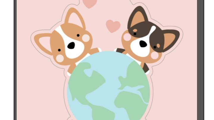 Corgis for a Cause World Stickers