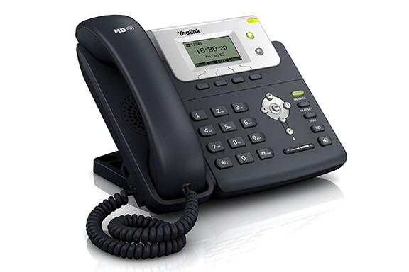 Teléfono SIP-T21-E2 (sin PoE). 2 cuentas SIP, 2 teclas de línea, pantalla LCD