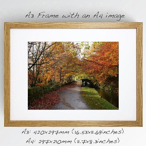 A4 framed print.