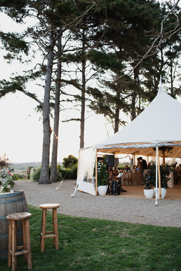 A wedding reception in a Tipi at Byron View Farm in Byron Bay.