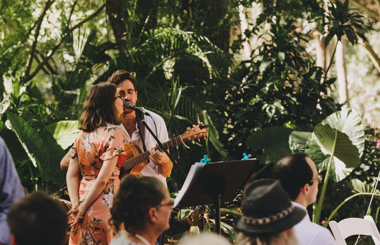 The Famo's band performing live music at a Wedding Ceremony in Brisbane QLD.