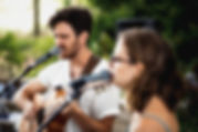 """Wedding musicians sing together at Maleny venue """"Weddings at Tiffany's"""" in Maleny, QLD"""