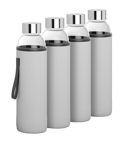 Q&C Glass bottle - Family Pack (4pcs)