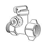 Nano angle stop valve adaptor