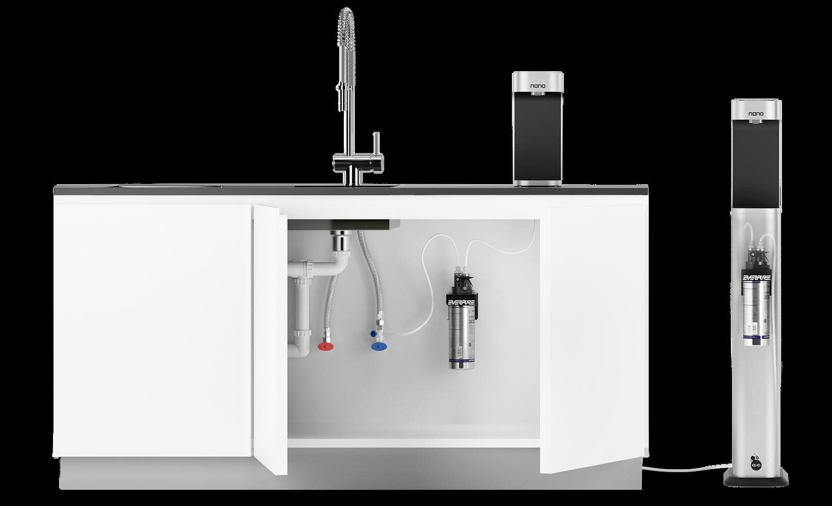 Nano countertop and freestanding