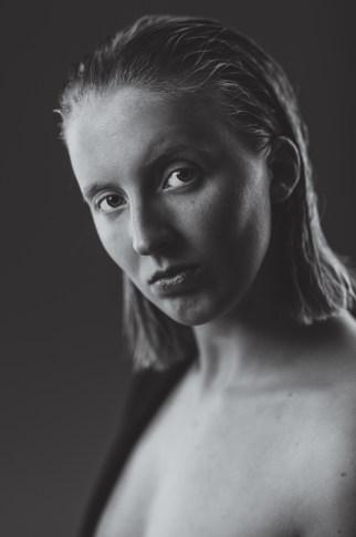 Portrait blonde women
