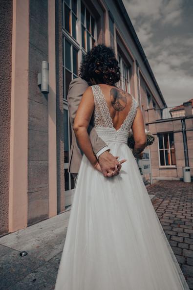 Brautpaar Gebäude
