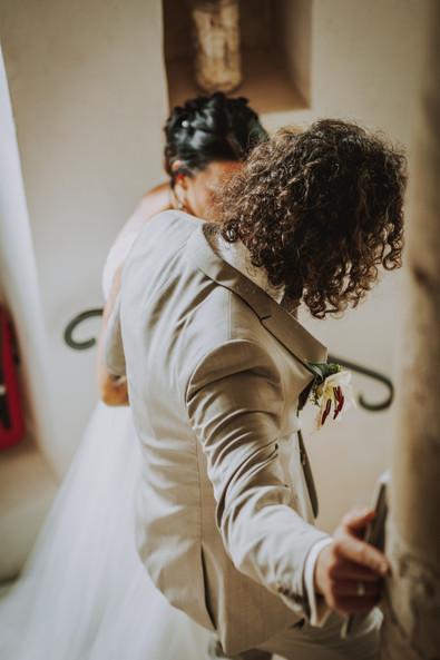 Brautpaar Wendeltreppe