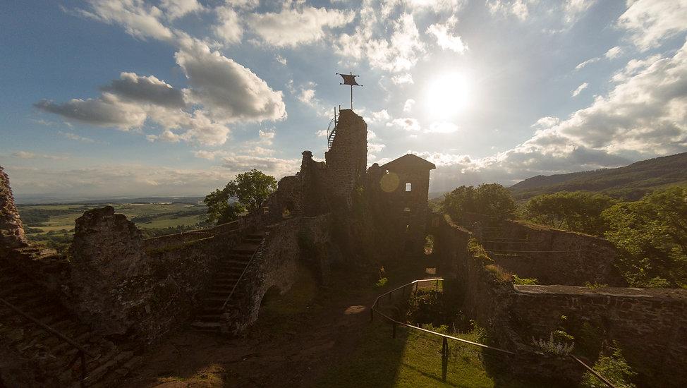 Luftaufnahme Burgruine Hohenstein fotografiert von Tobias Rödiger
