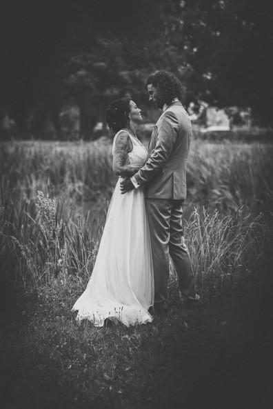 Brautpaar Teich