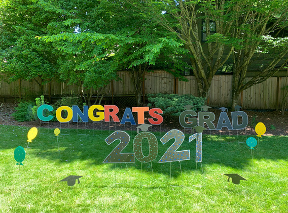 Congrats w 2021 + balloons