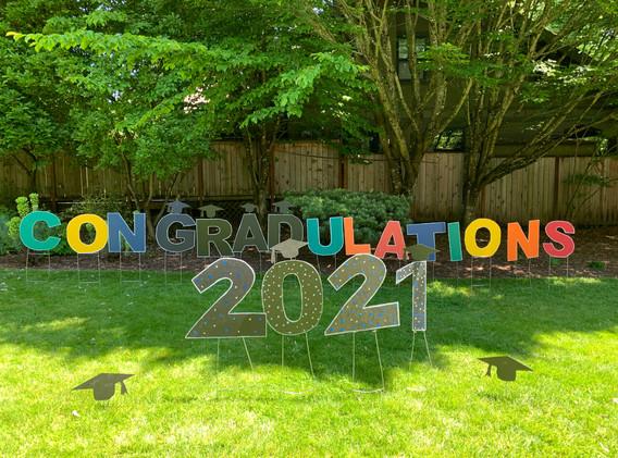 Congratulations + 2021