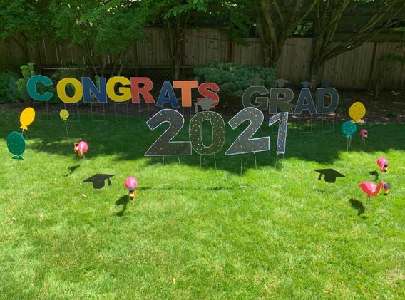 Congrats Grad w Flamingos