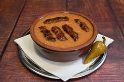 Bohnensuppe mit cevapcici
