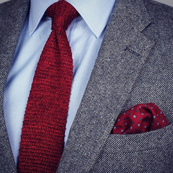 Classic Blue & Red with Texture