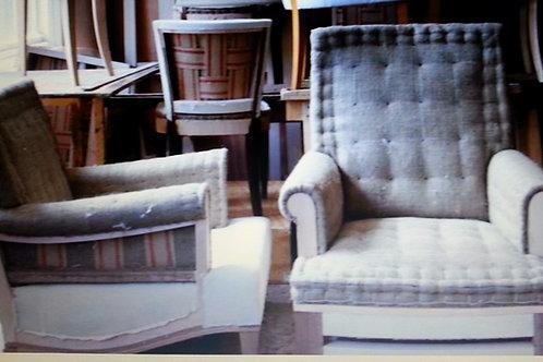 Stuffed Chair with Matching Ottoman
