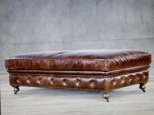 Large Edelman Leather Ottoman