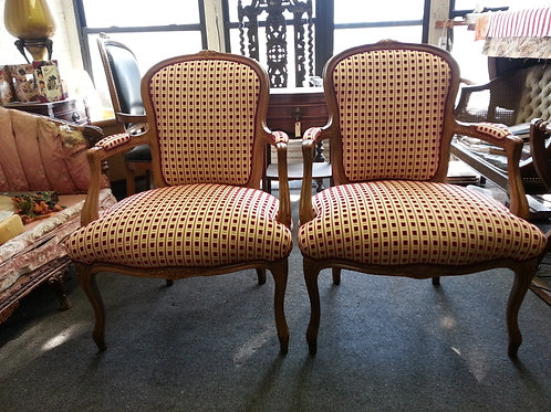 Pairs of Louis XV chairs.