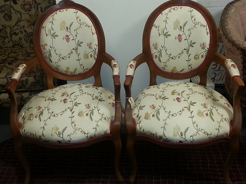 antiques reupholster french louis XVI chairs