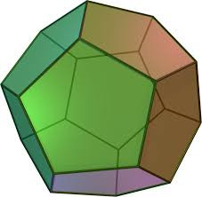 Dodecahdron image, 20-sided figure