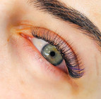 Classic eyelash extensions with purple color
