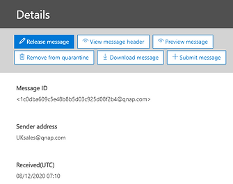 4 - release an email from quarantine ste