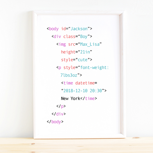 HTML Baby Wall Art