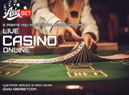5 Points You Must Know Before Playing Live Casino Online
