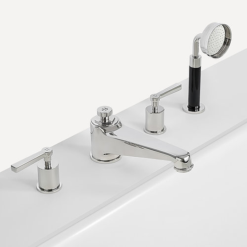 Janey Mac 4 Hole Bath Filler With Pull Out Hand Shower