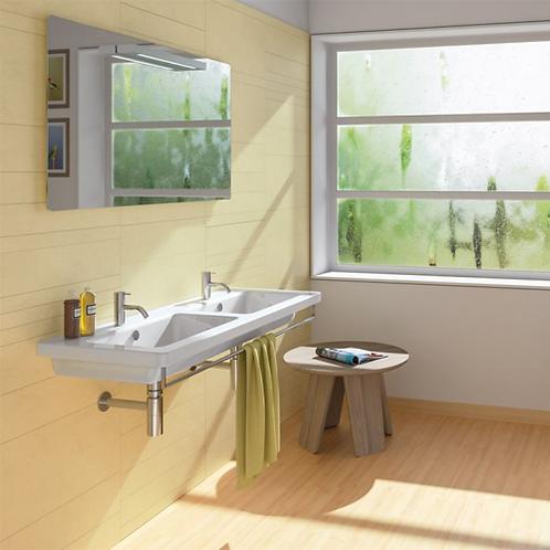 New Light 125x48 Double Washbasin