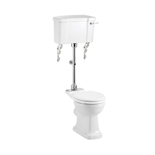 Rimless Medium Level WC With 520 Lever Cistern