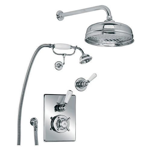 """GD8716 Godolphin Concealed Thermostatic Valve With Shower Kit & 8""""Rose"""