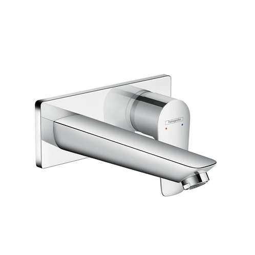 Hansgrohe Talis E Wall mounted basin mixer with 165mm Spout