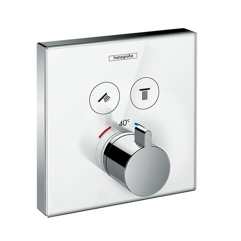 ShowerSelect Glass Thermostat For 2 outlet