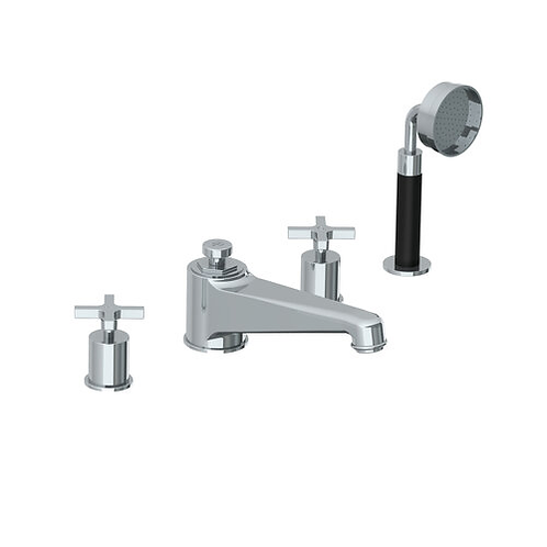 Lefroy Brooks Janey Mac 4 Hole Bath Filler With Pull Out Hand Shower