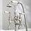Thumbnail: Deck Mounted White Lever Bath Shower Mixer