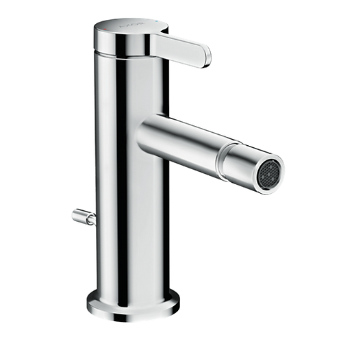 Axor One Single lever bidet mixer with pop-up waste set