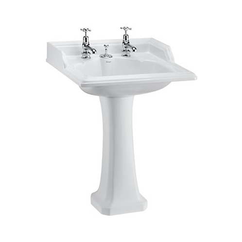 Classic 65cm Basin & Invisible Overflow with Pedestal