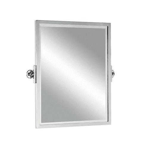 Tilting Mirror With Brass Frame