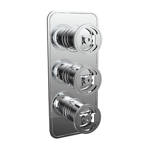 UNION Two Outlet Thermostatic Shower Valve - Wheel Control