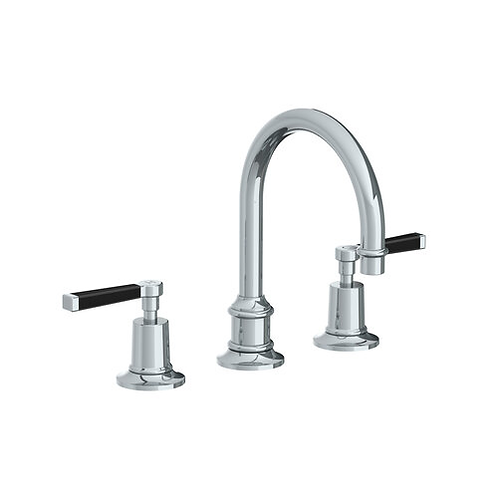 Mackintosh Black Lever Tubular Basin Mixer With Clicker Waste