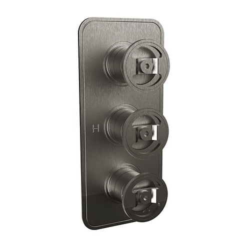 UNION Three Outlet Thermostatic Shower Valve - Wheel Control