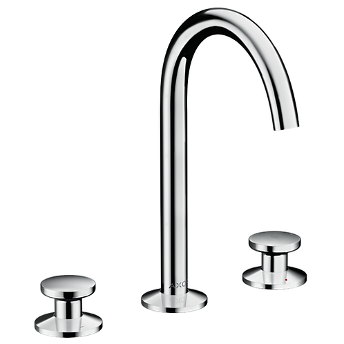 Axor One 3-hole basin mixer Select 170 with push-open waste set