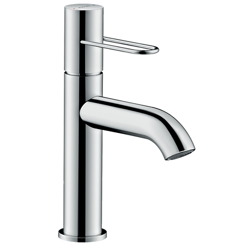 Axor Uno Single lever basin mixer 100 with loop handle and waste set