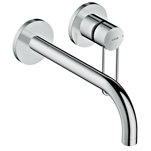 Axor Uno wall mounted single lever basin mixer 225mm Spout Loop Handle