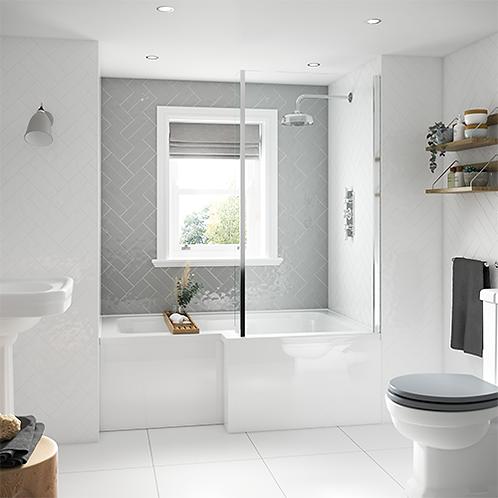 L-Shape Shower Bath & Screen